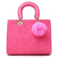 2015 all-match fashion rivet Women Handbag Women Messenger Bags Tote Faux Suede handbags Solid Color Zipper Shoulder Bag FF5