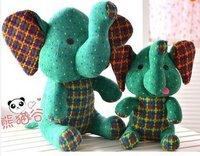 LY7619 2pcs 2014 New Cute Cartoon Elephant Plush Toys Cloth DIY Plush Toys Christmas Gift