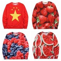 2015 New Arrival Desigual Brand Hoodies For Men 3D Print Fruit/China Flat Male Sweatshirt Jogging Hombre Chandal FreeShip n3d004
