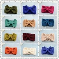 Crochet Bow Headband Ear Warmer Knit Headband Bow Ear Warmer Womens Retro Bow Headband Adult Bow Winter Headbands 10pcs WH072