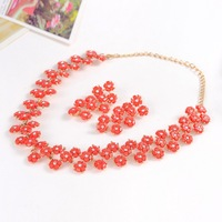 mosaic jewrlry sets Pendants Classic Accessories Ladies jewelry sets Exaggeration Temperament jewelry sets RED COLOR