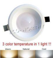 LED Ceiling light color temperature adjustable Downlight Warm/Natural/Cool light