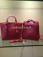 Y1507 2015 Fashion artificial leather handbag Pink handbag