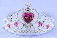 Cheap Red Diamond Plastic Princess Tiara Crown