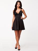 Size M/L ML17981 V Neck Backless Black Mini Short Spring Dress 2014 Summer Fashion Sleeveless Polyester Cotton Casual Dress