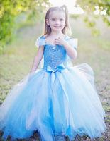 2014 Hitz Guangdong children's clothing children's clothing wholesale ice romance long sleeved dress princess S&L