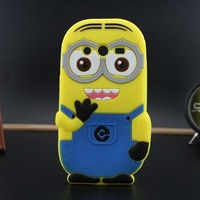 3D Despicable Me Minions Silicon cell phone defender cover skin case for Samsung Galaxy Core 2 G355h