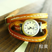 Women Brand Wristwatch 3 Ring Genuine Cow Leather 6 Colors Russian Hot Sale Women's Fashion Watch Ladies Best Gift Wholesale