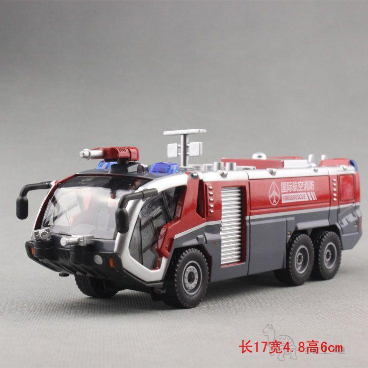 Alloy engineering car model high pressure water gun fire truck water pot car ladder truck(China (Mainland))