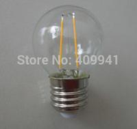 2W E27 A19 220V 110V LED Filament bulbs Light Clear Glass Housing LED Lamp high brightness 360 Degree 10pcs a lot