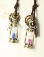 vintage fillable Glass Genie Lantern Lamp Pendant tube bottle rice vial charm NEW*~
