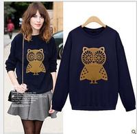 High quality women's hoodies,women owl sweatshirts  for sports
