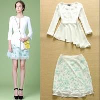 High Quality 2015 New Fashion Spring and Summer Irregular shirt + bud short dress