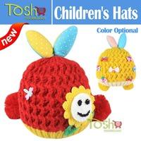2014 New Winter Wholesale Children Winter Knitting Wool Hat Baby Girl Boy Fashion Rabbit Hats Kids Warm Baby Caps Free Shipping