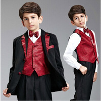 Wedding Party Dress Boy Dress Single Breasted Formal Solid Little Boys Suits