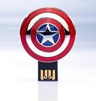 Free shipping! Cartoon Hero Captain America USB Flash Drive Memory Pen/Thumb Drive1GB 8GB 16GB 32GB 64GB Cartoon pen drive
