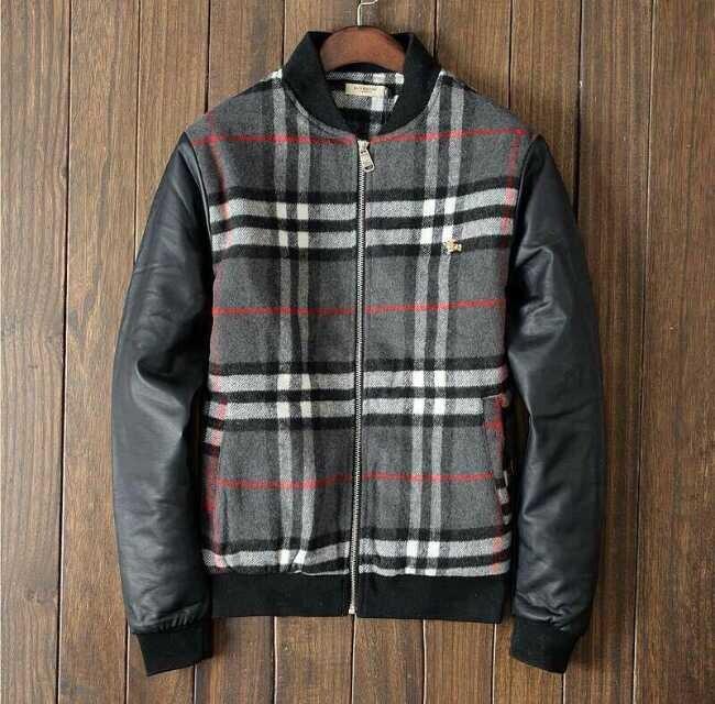 2014 new men's baseball cotton padded jacket / wool and leather stitching coat /M ~ 3XL(China (Mainland))