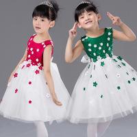 2015 new girl beautiful and elegant dress, children sleeveless dress fashion flower tutu dress. Free shipping!