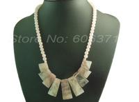 nature Rose Quartz 9pcs Pendants set gem stone Beads Handcrafted Necklace SDN014