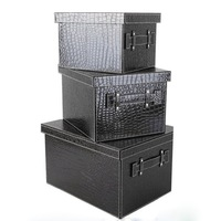 wholesale home office decor sundries organizer container boxes for clothing books toys 3pcs/set