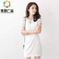 women's plaid  original design white cotton silk one-piece one piece summer dress set skirt twinset Fashion design high quality
