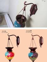 Toughened glass craft creative wall lamp bedside lamp classic lens headlight southeast wind restoring ancient ways