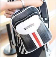 2014 fashion women messenger bags girls causal patchwork high quality canvas shoulder bag bolsas femininas Free Shipping WXT325