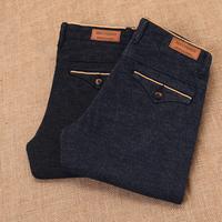 2015 New Korean Casual Slim Men's Straight Jeans British Skinny Men's Western Style Pants Business Casual Men Trousers Black