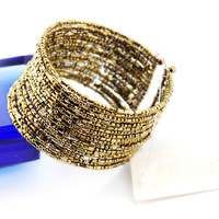 (Min order 6$)2015 Hot sale Bohemian Style Beaded Cuff Bangle for wommen (B2-231)