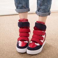 2014 Spring Women Wedge Sneakers Height Increasing Shoes Platform  new Autumn Heels Casual High-heels Sneakers for Women