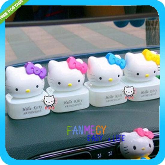 Cute Hello Kitty Car Perfume Clips Seat Air Freshener For Auto Car car kit Auto Accessory Free shipping Auto15(China (Mainland))