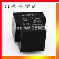 T90 relay (10pcs/lot) high quality PWR JQX-15F SPST rele 30A 12vDC 24vDC 5pin 5 pin 1H circuit board PCB relay free shipping