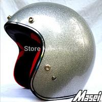 Masei 901 Silver Metal Flake Helmet Motorcycle Open Face Capacete