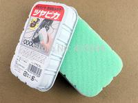 Japan Brand Shoe Sponge Wipe Brush Both Sides Good Helper for Leather Shoe + Free Shipping