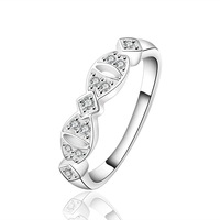 CZ crystal women Rings jewelry 925 Silver Ring 2014 new Fashion punk wholesale Free Shipping wedding ring PCR624