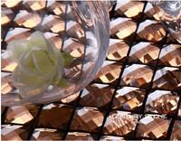 Thirteen facets Mirror  Glass Mosaic tile