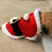Pet Dog Santa Suit Father Xmas Clothes Puppy Cat Hoodie Coat Costume Fancy Dress# G01057