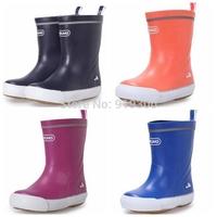 New Boys Girls Kids Rubber Rainboots Anti-slip Flat Heels Waterproof Rain Boots Colorful Cute Water Shoes For Children  #KS10