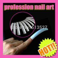 Excellent Quality 100pcs White Color Nail Art Salon false nails 6-9cm Size 10pcs/pack For Fingernail Desgin Freeshipping