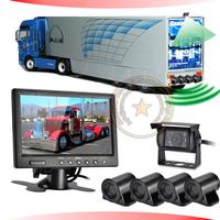 24V truck&trailer parking sensor with 4pcs waterproof sensors,anti-false alarm,memory function,0.6-5M accuracy detection
