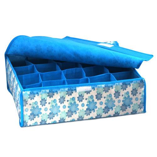 Free Shipping 2014 NEW Hot Sale Folding 16 Grid Storage Box For Bra,Underwear,Socks 31*31*11CM Non-Woven Fabric(China (Mainland))