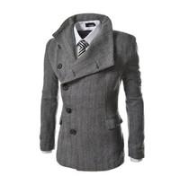 2015  new  design men irregular herringbone coat jacket  free shipping