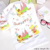 5pcs/lot 30*50cm cotton towels children cartoon face towel 100% cotton toalha de rosto
