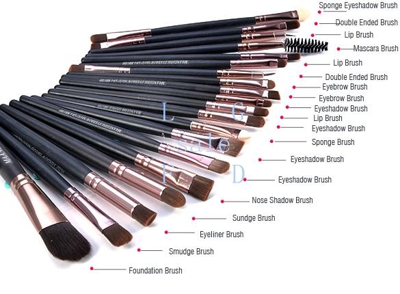 20 Pcs Classic Pro Makeup Set Powder Eyeshadow Eyeliner Lip Cosmetic Brushes(China (Mainland))