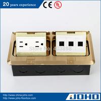 DCT-638/GBD IP44 Brass Slow Floor Pop Up Socket Outlet