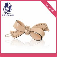 Sweet color crystal  bow  hair  clip Hair Barrettes Hair   fashion accessories for girls