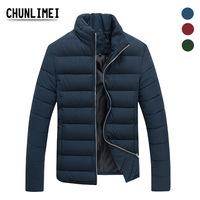 Hot Sale Men Winter Clothes Zipper Mandarin Collar Casual Down Jackets Warm Outwear Abrigos Masculino Casaco Free Shipping W025