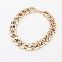 Hot sale#1pc Women Europe and the United States all-match thick Choker Chunky Shiny chain necklace Wholesale SALE