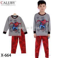 90-130 baby long sleeve spiderman clothes set / fashion boys pajamas  / kids sleepwear