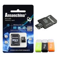 New Brand Real Capacity Micro sd card 64GB 32GB 16GB 8GB 4GB class 10 memory card flash microsd card Free card reader + adapter